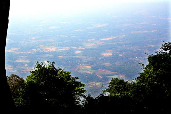 green land farm house view